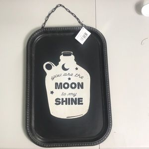 NWT You are the moon to my shine decorative tray